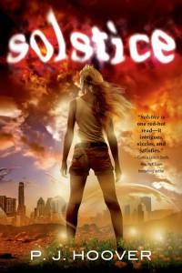book cover of Solstice by PJ Hoover published by Tor Teen