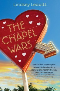 book cover of The Chapel Wars by Lindsey Leavitt published by Bloomsbury