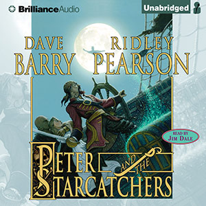 CD cover of Peter and the Starcatchers By Dave Barry & Ridley Pearson Read by Jim Dale Published by Brilliance Audio