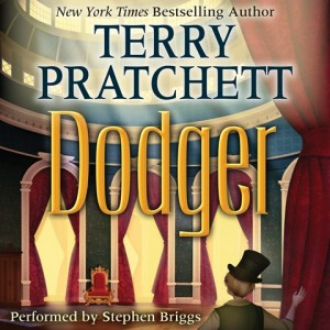 CD cover of Dodger  by Terry Pratchett | Read by Stephen Briggs Published by HarperAudio