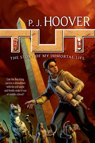 book cover of Tut My Immortal Life by PJ Hoover published by Starscape