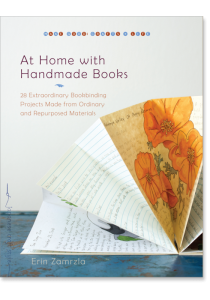 book cover of At Home With Handmade Books by Erin Zamrzla published by Shambhala Books