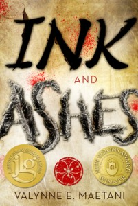 book cover of Ink and Ashes by Valynne E. Maetani published by Tu Books   BooksYALove.com