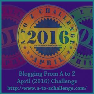 logo of April AtoZ blog challenge 2016