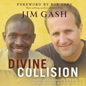 CD cover of DIVINE COLLISION: An African Boy, an American Lawyer, and Their Remarkable Battle for Freedom by Jim Gash Read by Brandon Batchelar Published by Oasis Audio | recommended on BooksYALove.com
