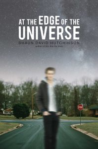 book cover of At the Edge of the Universe by Shaun David Hutchinson published by Simon Pulse | recommended on BooksYALove.com