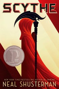 book cover of Scythe by Neal Shusterman published by Simon Schuster  | recommended on BooksYALove.com