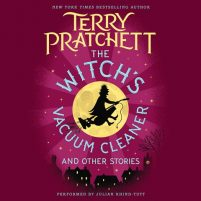 CD cover of The Witch's Vacuum Cleaner and Other Stories by Terry Pratchett | Read by Julian Rhind-Tutt Published by HarperAudio | recommended on BooksYALove.com