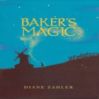 CD cover of Baker's Magic, by Diane Zahler | Read by Tavia Gilbert, Michael Crouch, Stephen DeRosa, Kenneth Cavett, L.J. Ganser, Robin Miles, Stina Nielsen, Elisabeth Rodgers Published by Live Oak Media | recommended on BooksYALove.com