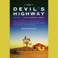 CD cover of Devil's Highway, by Luis Alberto Urrea   Read by Luis Alberto Urrea Published by Hachette Audio   recommended on BooksYALove.com