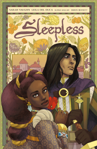 book cover of Sleepless, by Sarah Vaughn and Leila Del Duca. Published by Image Comics. | recommended on BooksYALove.com