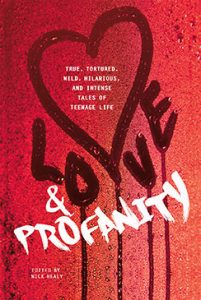 hardback book cover of Love & Profanity, edited by Nick Healy et al. Published by Switch Press | recommended on BooksYALove.com