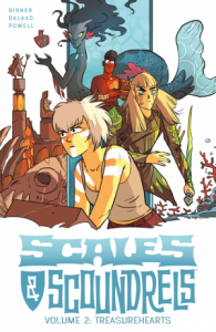 book cover of Treasurehearts (Scales & Scoundrels v. 2) by Sebastian Girner & Galaad. Published by Image Comics | recommended on BooksYALove.com
